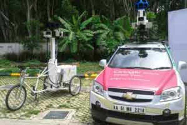Google Street View car parked in Banagalore.