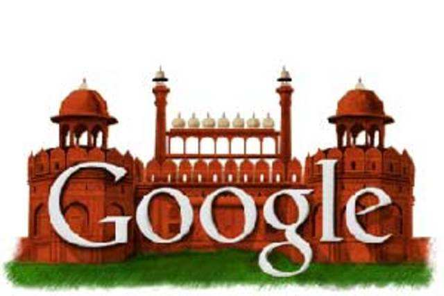The national capital's Red Fort stood tall on the Google home page as India celebrated its 65th Independence Day.