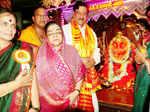 CM Prithviraj Chavan with wife