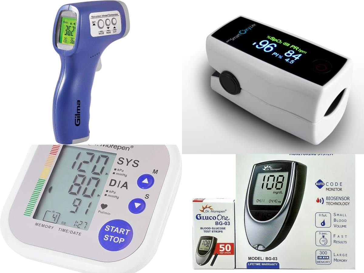 Amazon sale: Oximeter, IR thermometer, glucometer and blood pressure monitor available at up to 78% discount | Gadgets Now