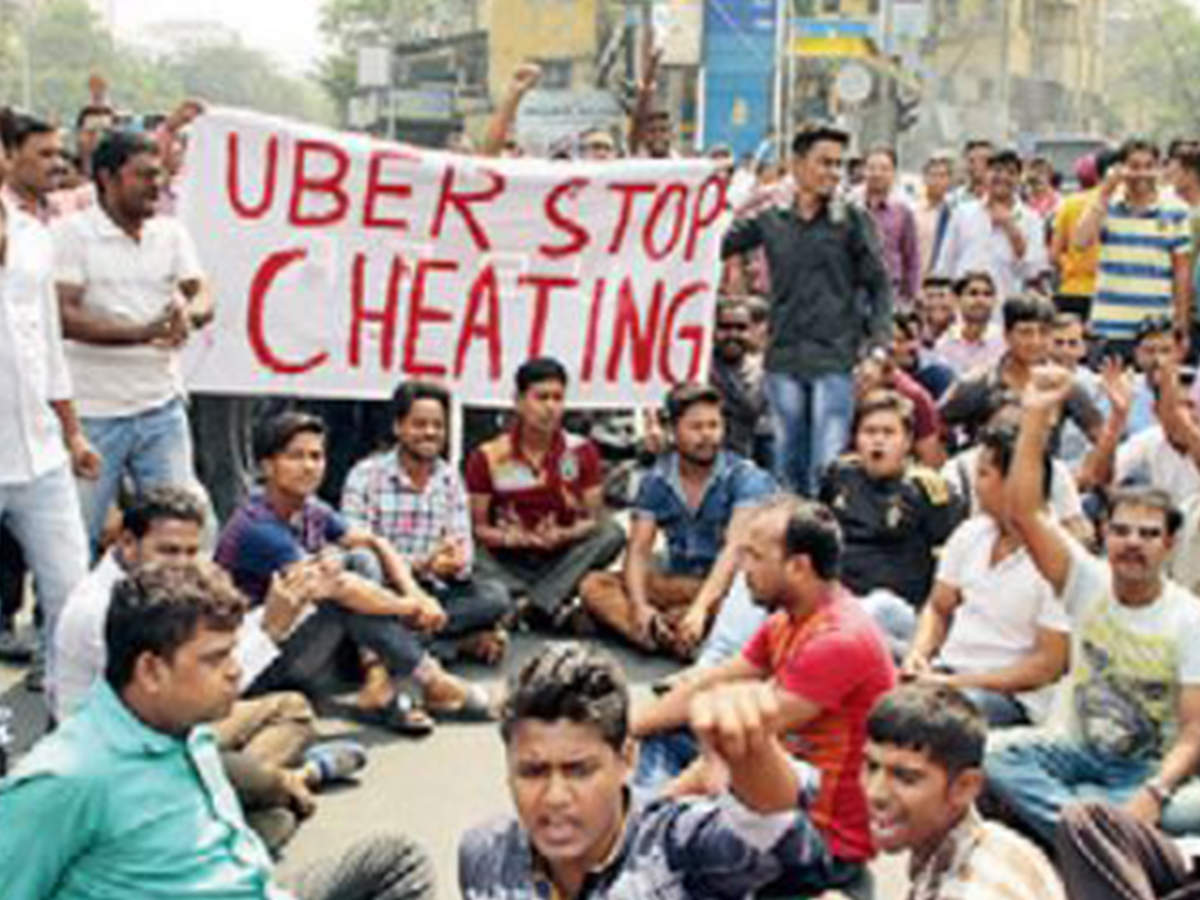 Now, Kolkata app cabs take strike route to push for demands