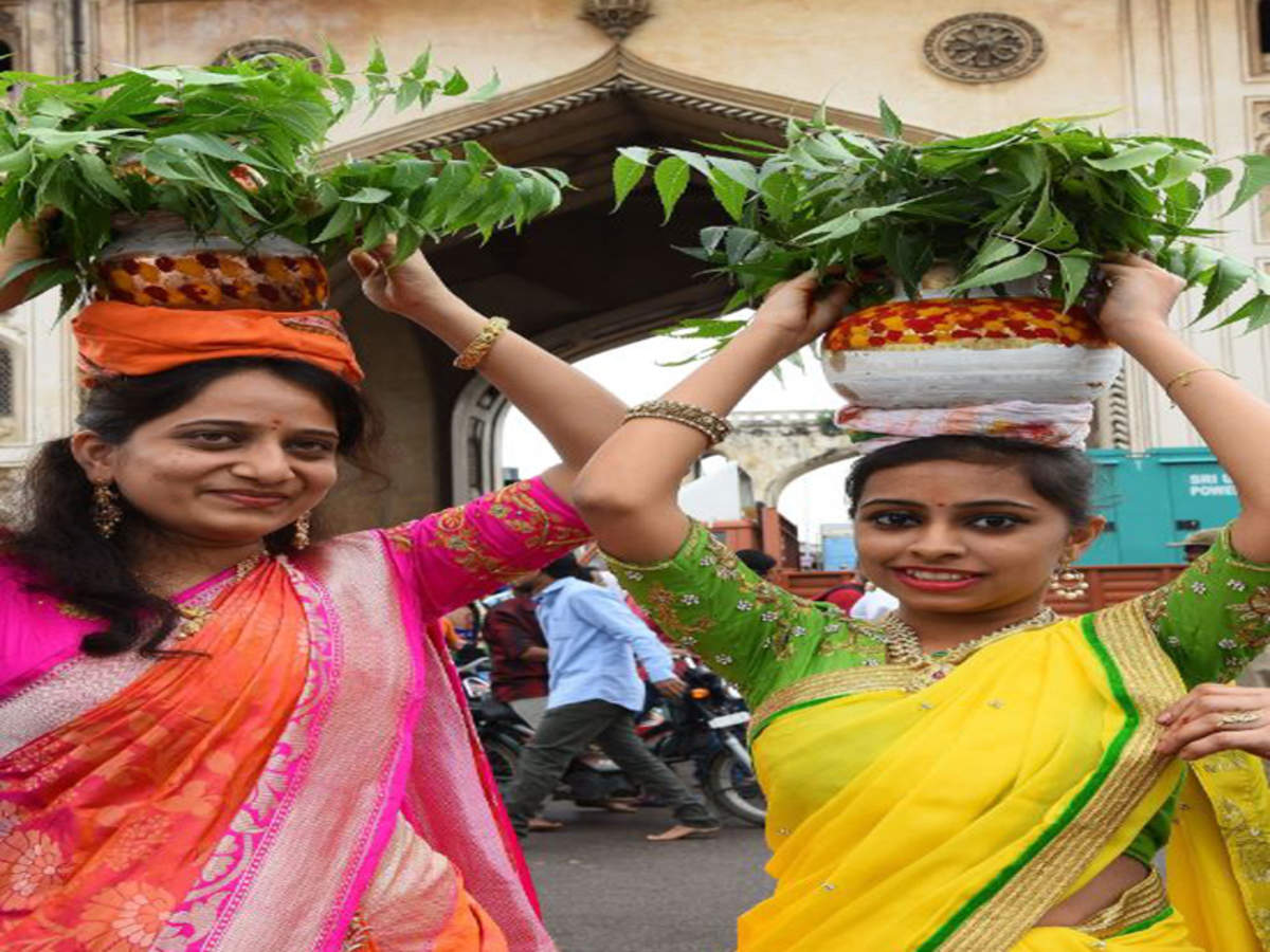Bonalu Spirit Soars High In Hyderabad Thousands Offer Bonam To