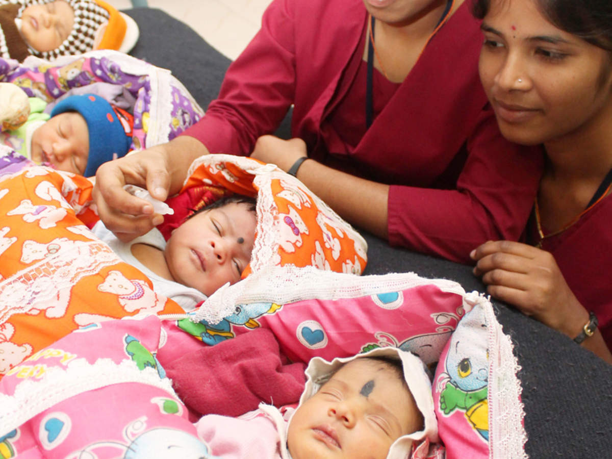 Fertility rate below replacement level for all but Hindus