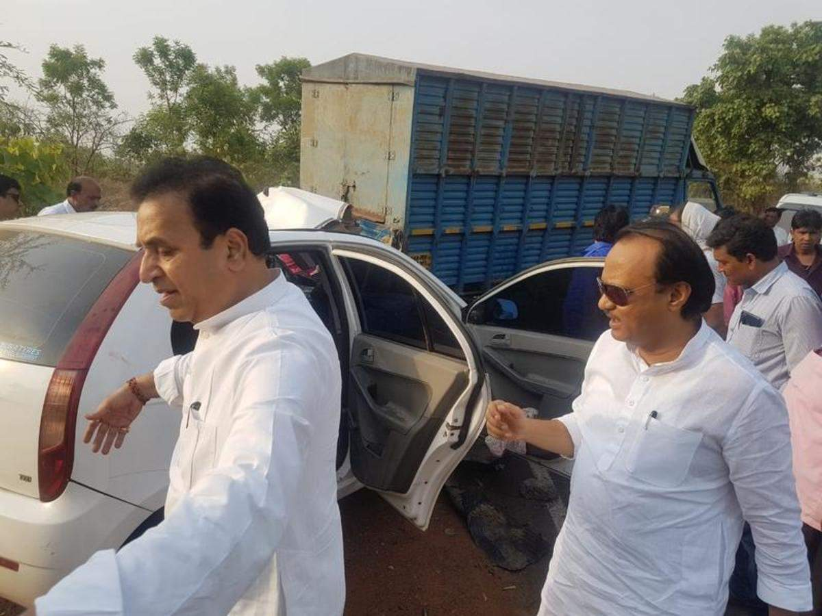 Ajit Pawar Ajit Pawar Rushes Five Accident Victims To Hospital