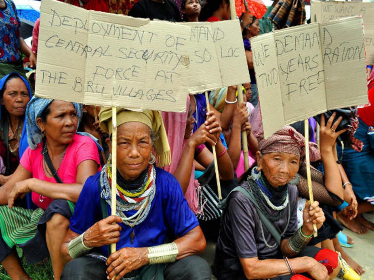 Dont arrange transport for bru voters from tripura refugee camps mizo bodies to ec