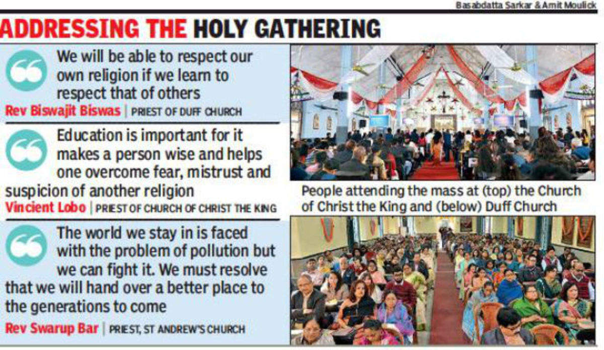 Priests stress on issues from harmony to pollution, say