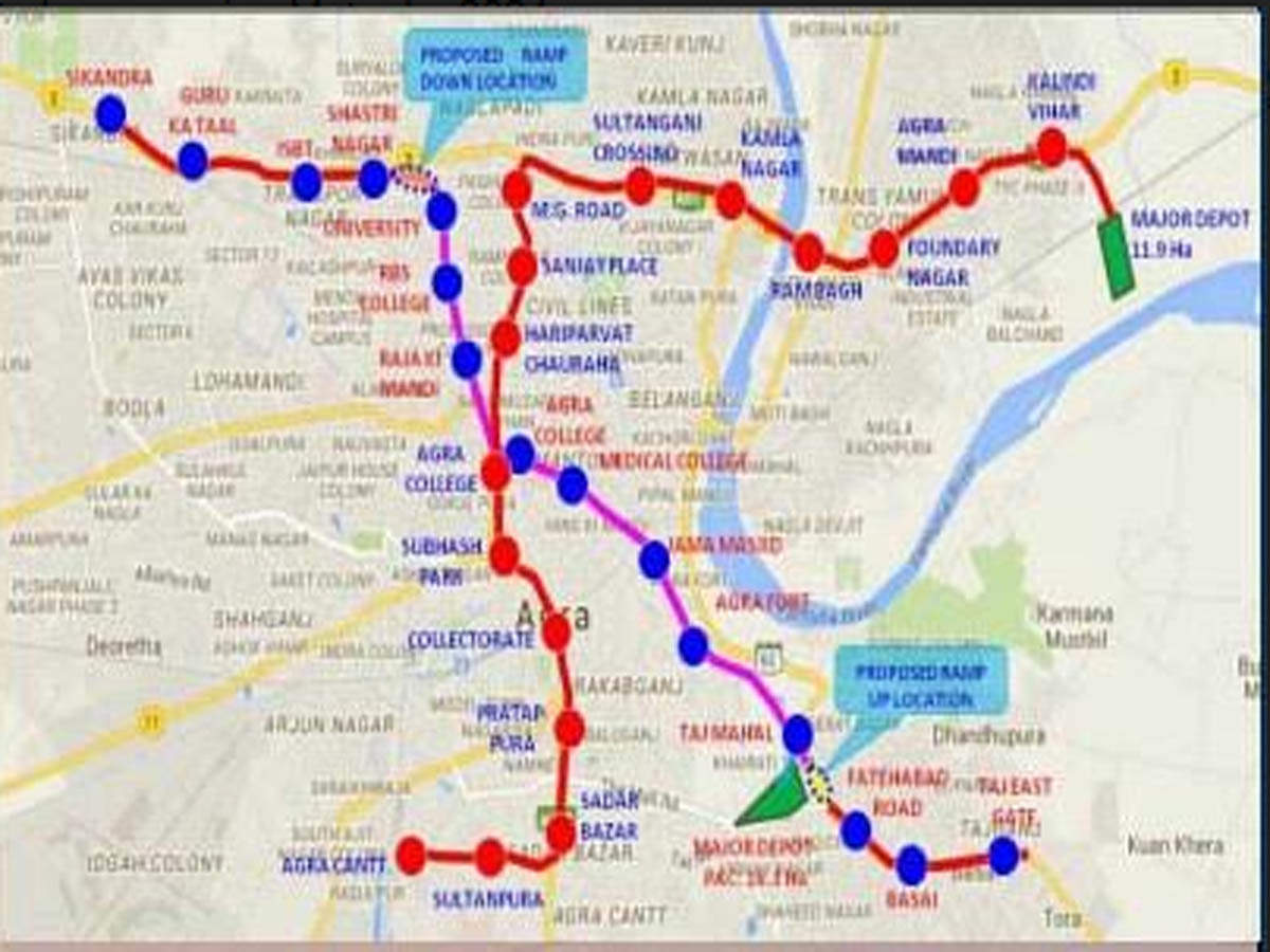 With 27 stations, 2 corridors, Agra to have running Metro by 2024
