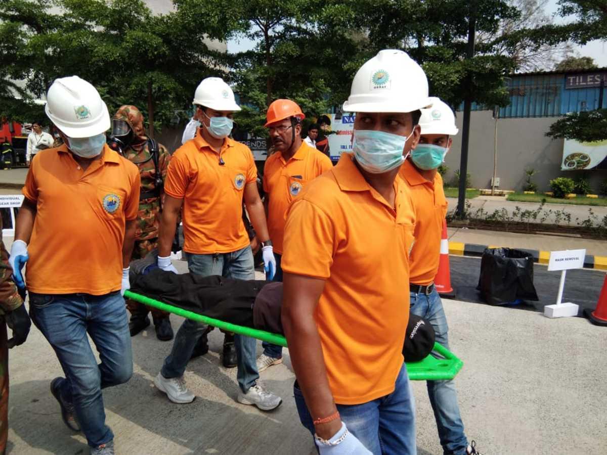 Bhubaneswar: Mega mock exercise organised in city on CBRN emergency