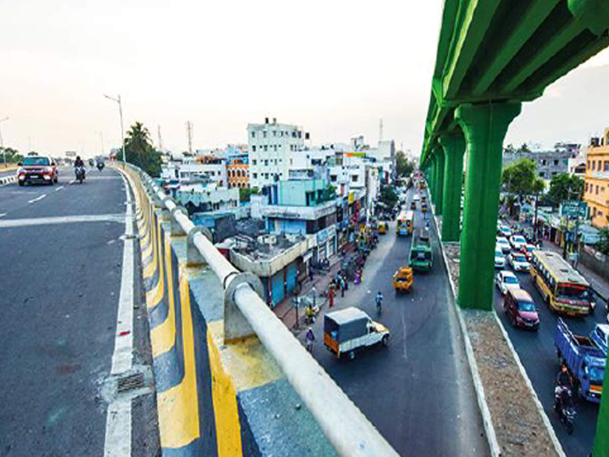 Ramps to soon connect Gandhipuram flyover to 100ft Road, Bharathiyar