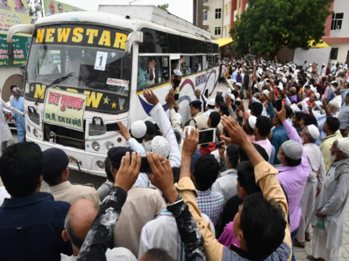1st batch of Haj pilgrims leaves for Saudi Arabia | India News