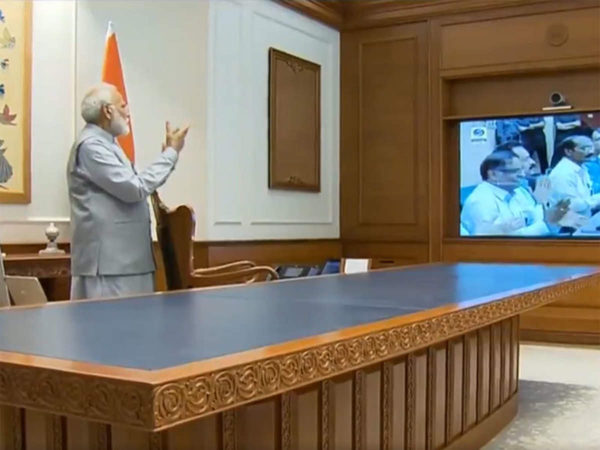 Image result for modi on chandrayaan 2 launch