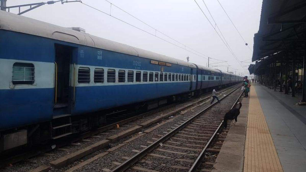 Image result for mumbai-ahmedabad-railway-track-washed-out-42-trains-cancelled