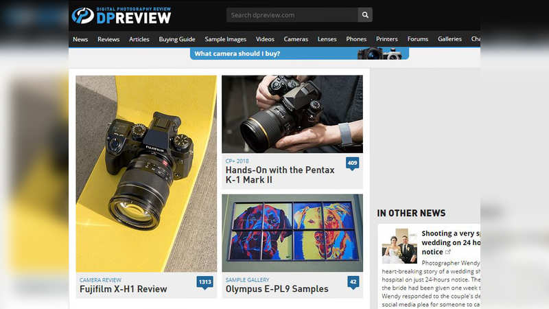 ​DPReview: Digital photography website