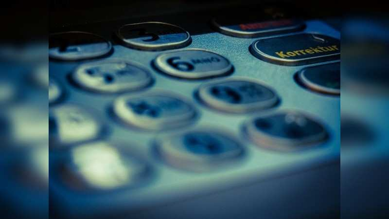 Sometimes, criminals place a thin film on the ATM keypad or POS machines to capture keystrokes.