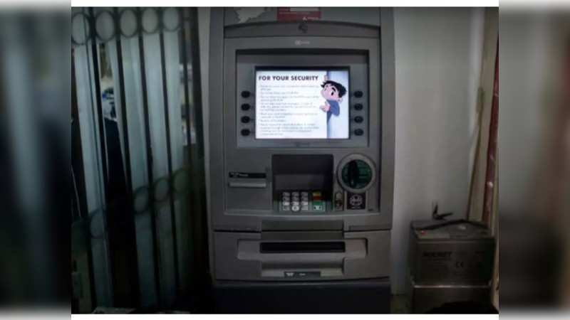 A camera installed somewhere above the keypad captures the ATM pin as the user enters it in an ATM or at a shop.