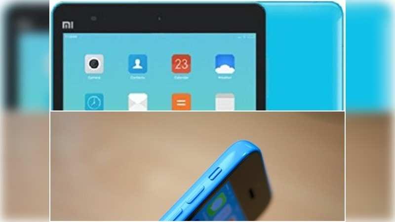 Mi Pad borrowed heavily from the iPad Mini and iPhone 5C