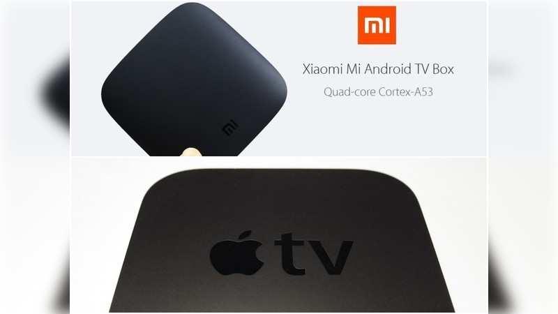 Xiaomi Mi Box and the Apple TV are near replicas