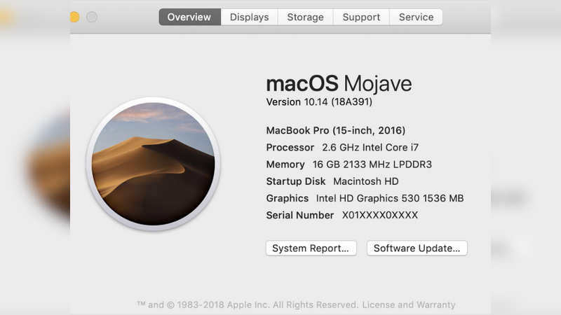 On a Mac, choose 'About This Mac' from the Apple menu on top left corner.It shows an overview of your Mac, including name and version of its operating system, model name, and serial number.