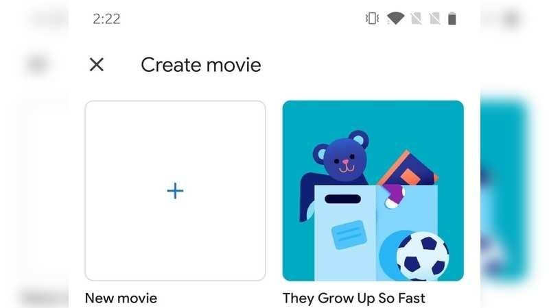Make a movie in Google Photos