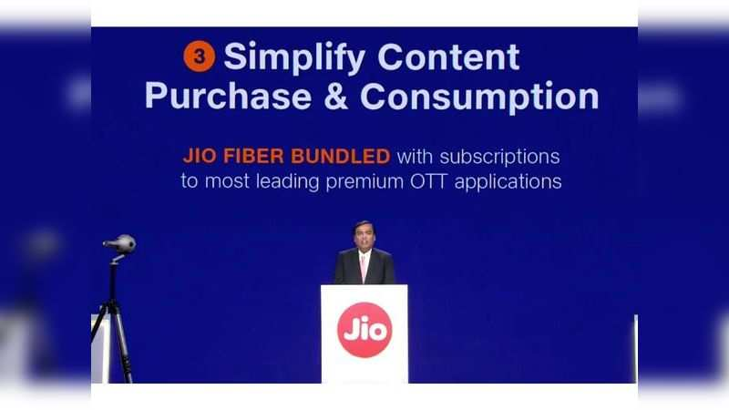 """Reliance Jio GigaFiber plans to come bundled with free subscription of """"most-leading premium OTT applications"""""""