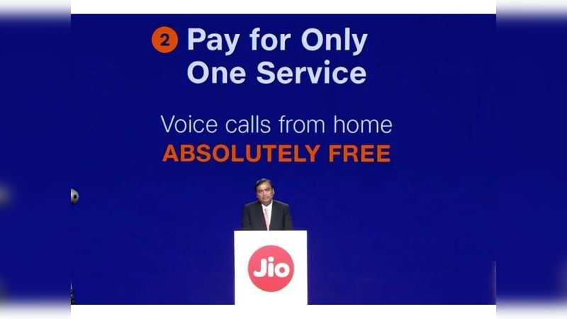 Free voice calls across India on Reliance Jio landline connection