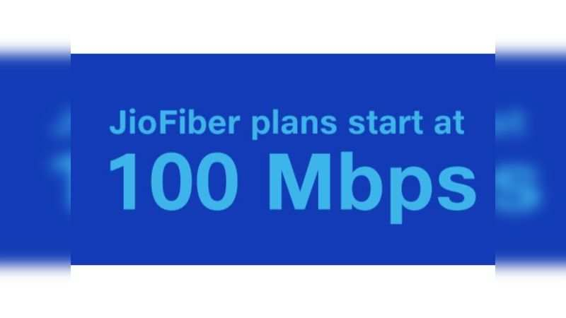 JioFiber will offer a minimum speed of 100 Mbps and a maximum of 1 Gbps. Post FUP speed drops to 1 Mbps for all plans