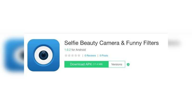 Selfie Beauty Camera & Funny Filters app with over 10 lakh downloads