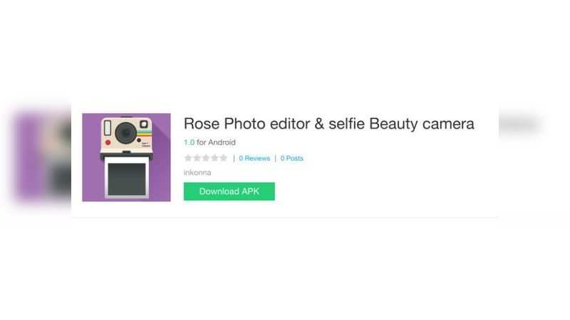 Rose Photo Editor & Selfie Beauty Camera app with over 10,000 downloads