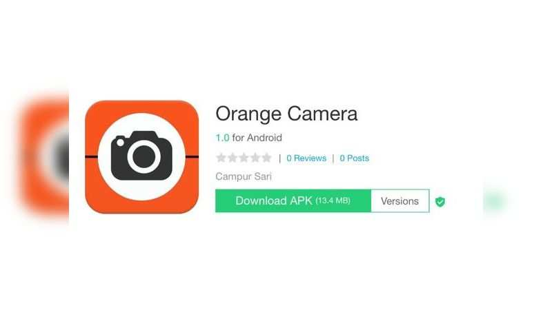 Orange Camera app with over 5 lakh downloads