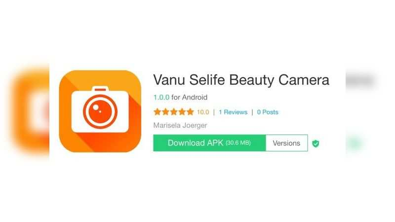 Vanu Selife Beauty Camera app with over 1 lakh downloads