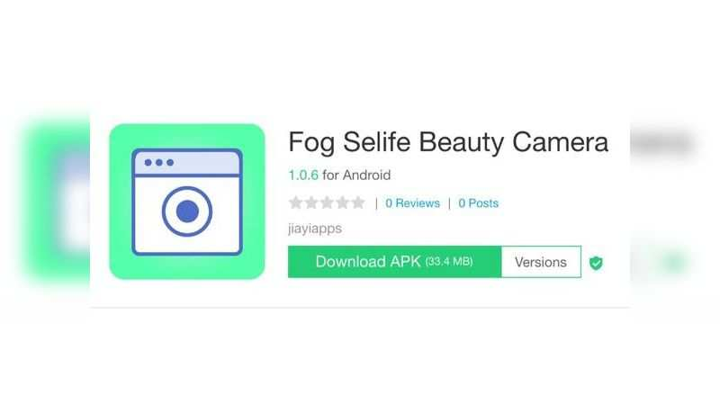 Fog Selife Beauty Camera app with over 1 lakh downloads