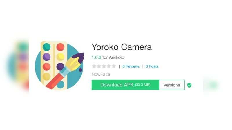 Yoroko Camera app with over 1 lakh downloads