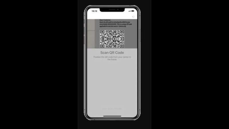 Fraudster then activates eSIM on his handset by scanning received QR code