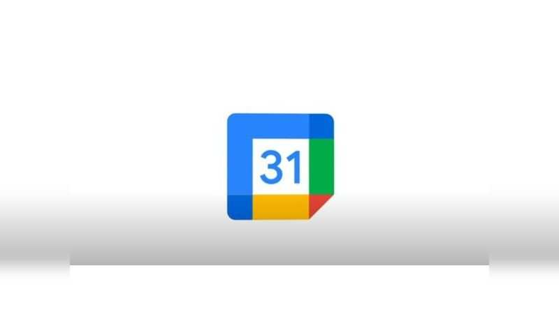 Google Calendar: Blue is the primary colour and '31' the number