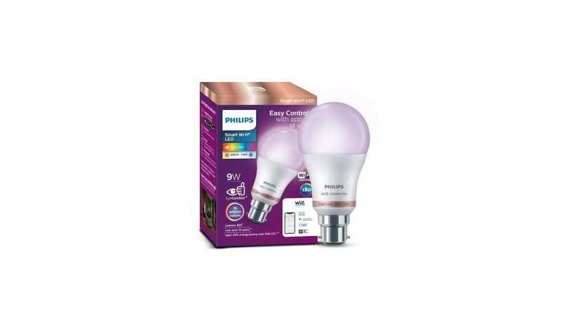 Philips Smart Wi-Fi LED bulb B22 9-Watt WiZ Connected: Available at Rs 849 (Discount of Rs 1,150)