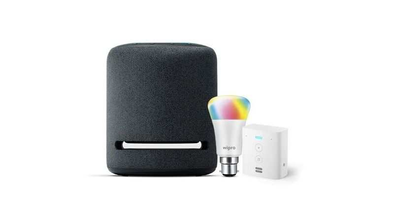 Echo Studio (Black) bundle with Echo Flex and Wipro 9W LED smart color bulb: Available at Rs 20,048 (Discount of Rs 8,049)