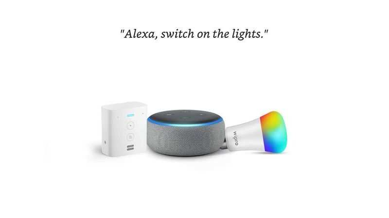 Echo Dot (Black) bundle with Echo Flex and Wipro 9W smart bulb: Available at Rs 3,298 (Discount of Rs 6,299)