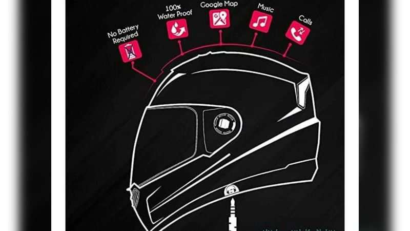 Steelbird full face helmet with integrated hands free device for calls, music is selling at 15% discount