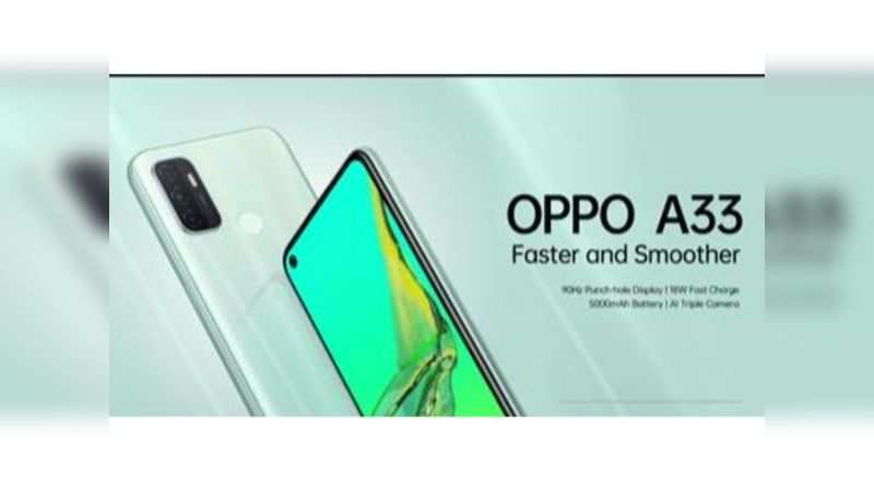 Oppo launches A33 smartphone with triple rear camera