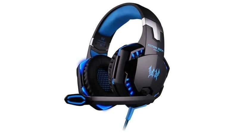 Kotion Each Over the Ear Headsets with Mic & LED - G2000 Edition (Black/Blue): Available at Rs 1,259 (Original price: Rs 1,649)