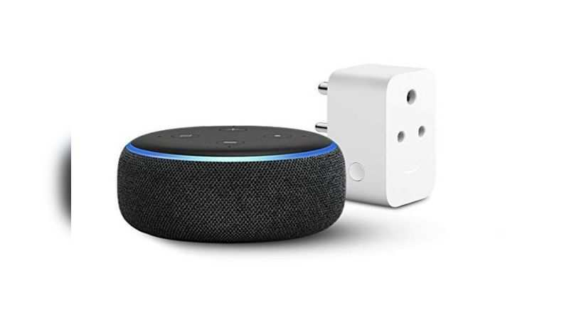 ​Echo Dot (3rd Gen) with Amazon Smart Plug is selling at a discounted price of Rs 2,748