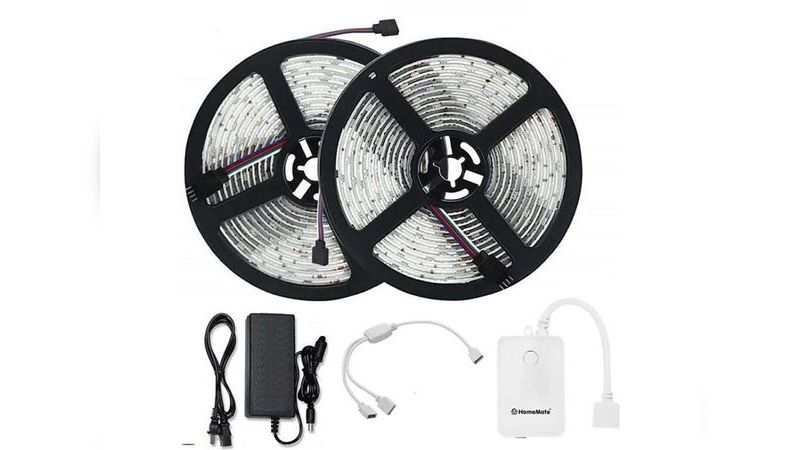 HomeMate Wi-Fi multicolour smart LED strip Kit Available at Rs 3,890 (discount of Rs 4,100)