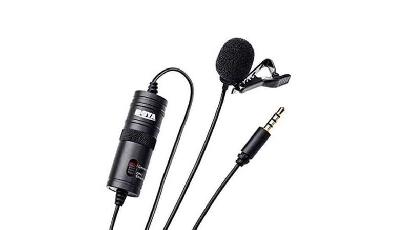 Boya BYM1 Omnidirectional Lavalier Condenser Microphone with 20ft Audio Cable: Selling at Rs 779 (Discount of Rs 1,216)