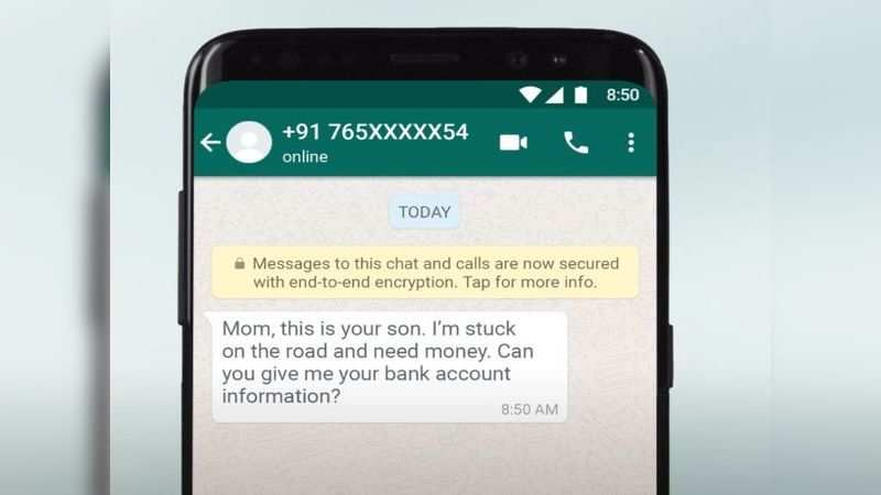 ​Never share your card details, OTP or UPI pin with anyone over WhatsApp for Payments