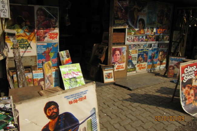 Bollywood memorabilia at Chor Bazaar