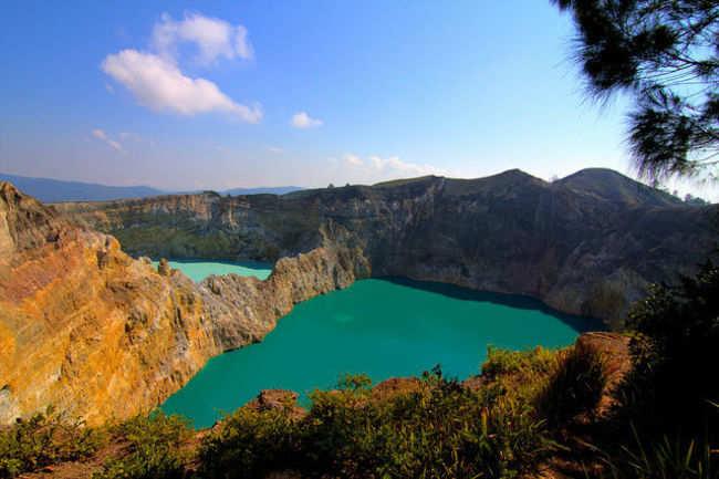 Kelimutu crater lakes in Flores Island, Indonesia