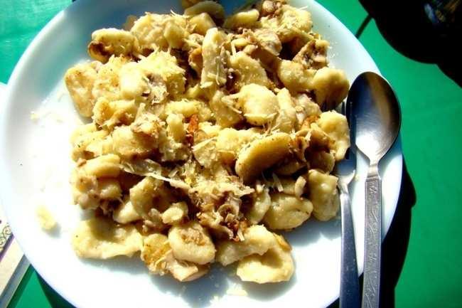 Potato-cheese gnocchi