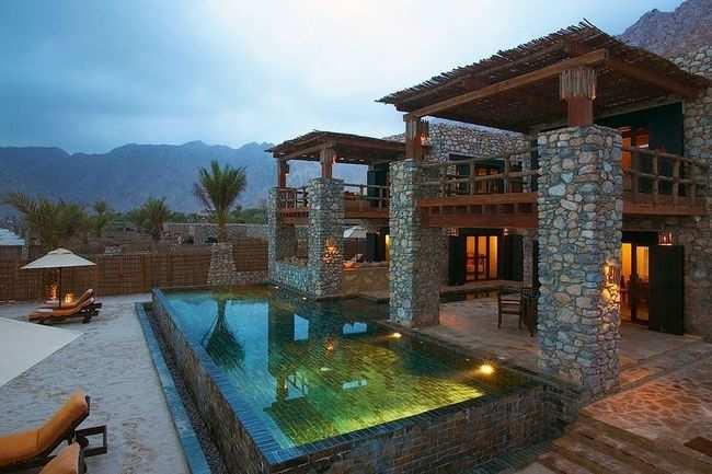 Outdoor villa pool