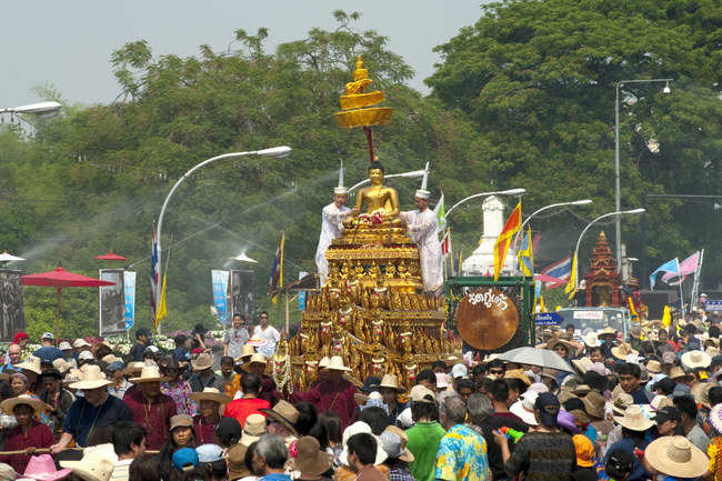 The Buddhist procession