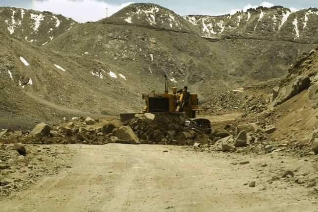 Road being cleared